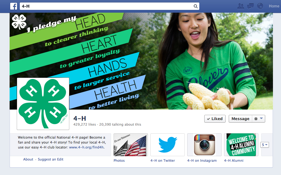 4 H Facebook