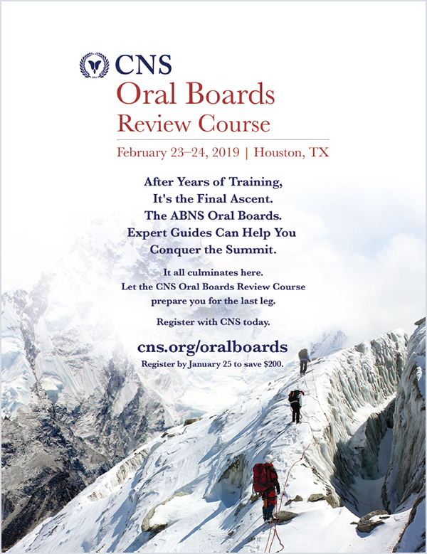 CNS Oral Boards Review Ad