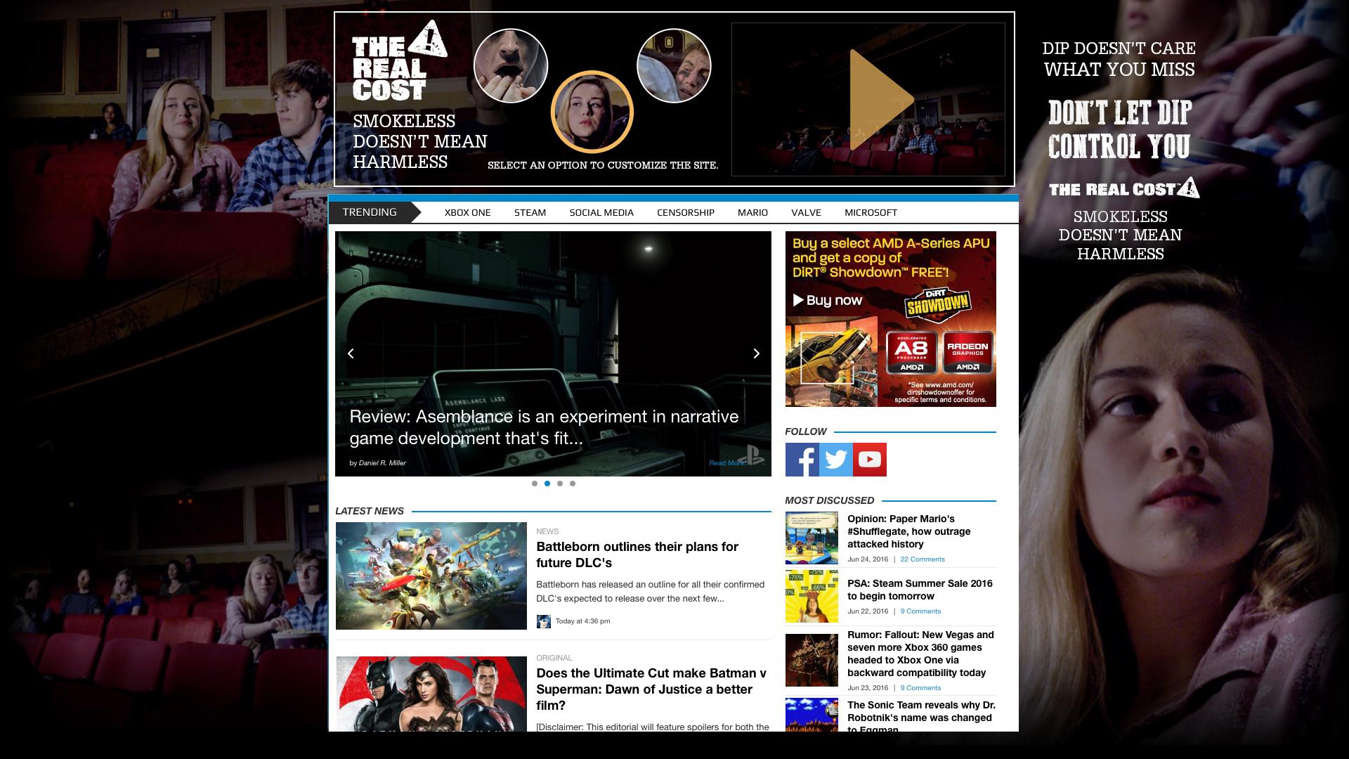 Playwire Site Customizer - Movie Date