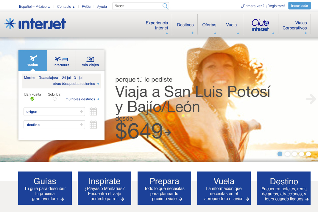 Interjet Website