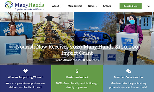 Many Hands Website